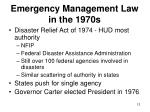 emergency management law in the 1970s12