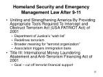 homeland security and emergency management law after 9 11