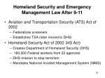 homeland security and emergency management law after 9 1123