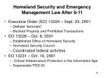 homeland security and emergency management law after 9 1129