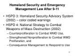 homeland security and emergency management law after 9 1131