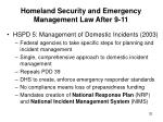 homeland security and emergency management law after 9 1132