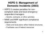 hspd 5 management of domestic incidents 2003