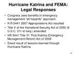 hurricane katrina and fema legal responses48