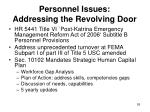 personnel issues addressing the revolving door