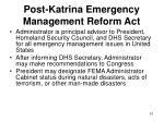 post katrina emergency management reform act51