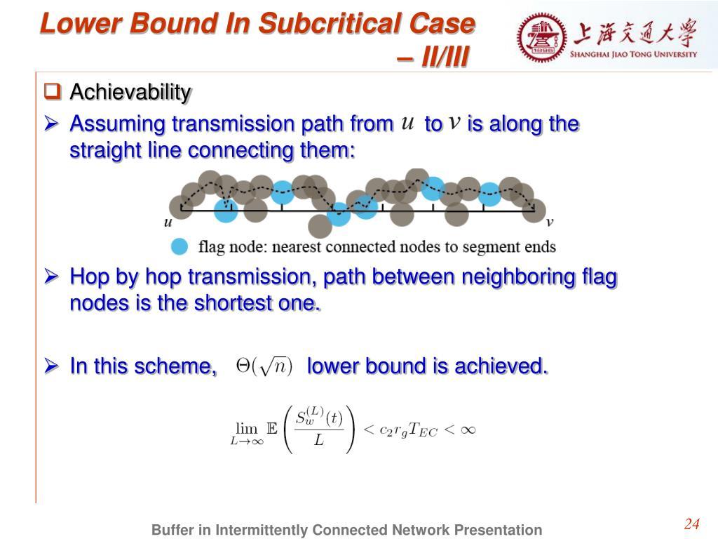 Lower Bound In Subcritical Case