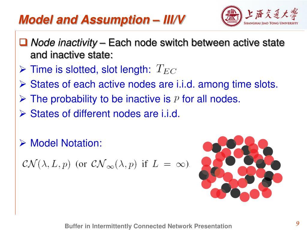 Model and Assumption – III/V
