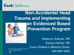 non accidental head trauma and implementing an evidenced based prevention program