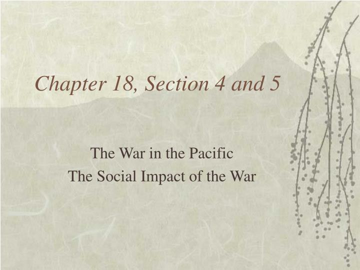 chapter 18 section 4 and 5 n.