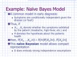 example na ve bayes model