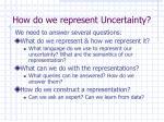 how do we represent uncertainty