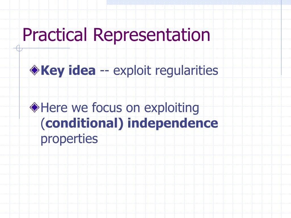 Practical Representation