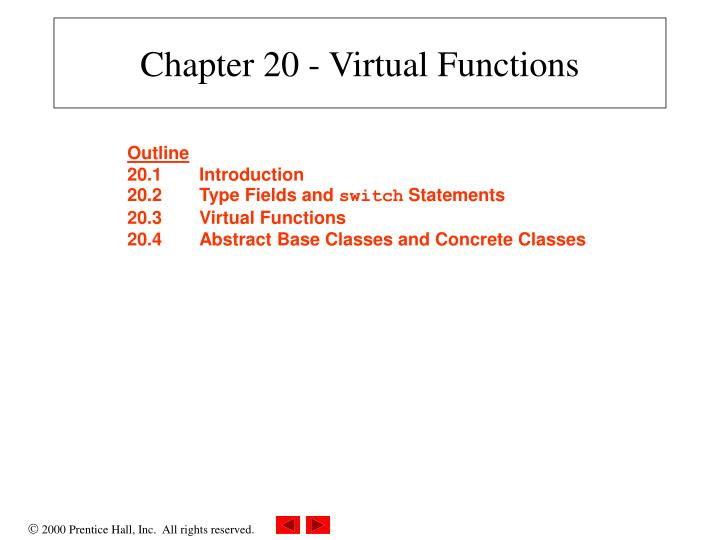 chapter 20 virtual functions n.