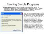 running simple programs24