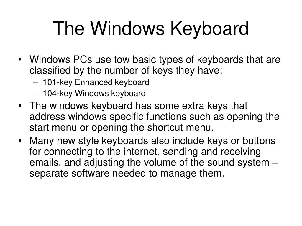 The Windows Keyboard