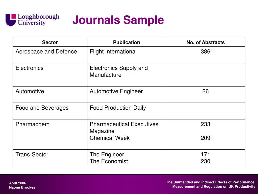 Journals Sample