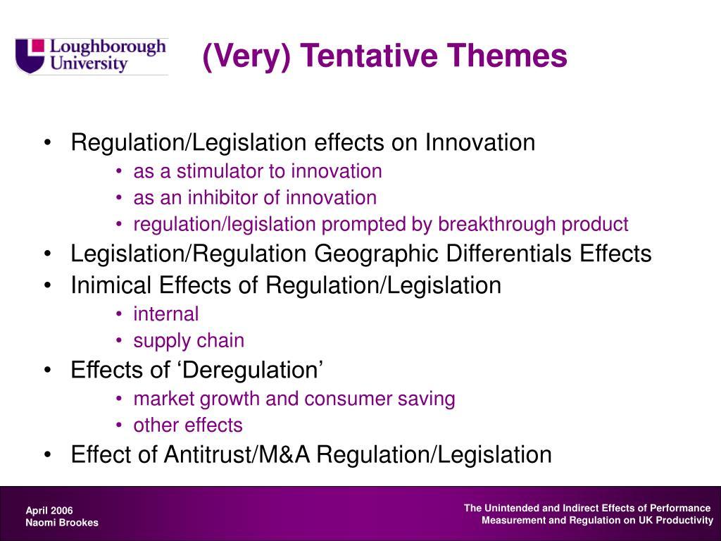 (Very) Tentative Themes
