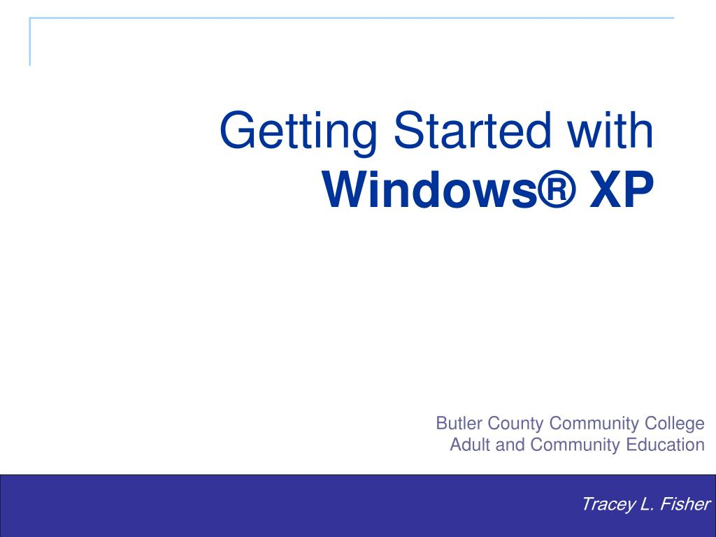 getting started with windows xp l.