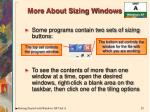 more about sizing windows