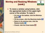 moving and resizing windows cont