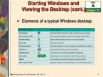 starting windows and viewing the desktop cont8