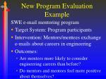 new program evaluation example