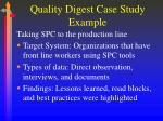 quality digest case study example