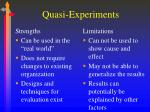 quasi experiments39