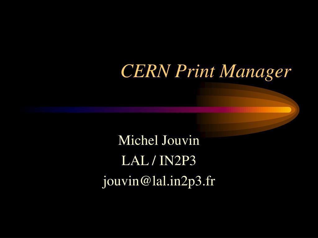 CERN Print Manager