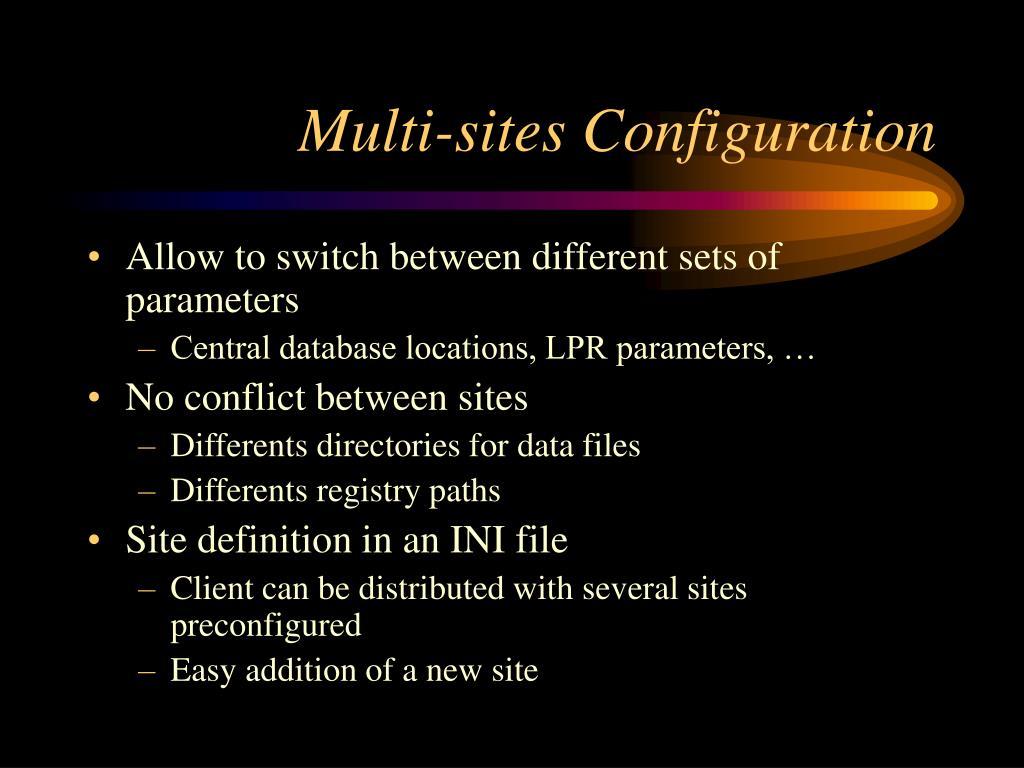 Multi-sites Configuration