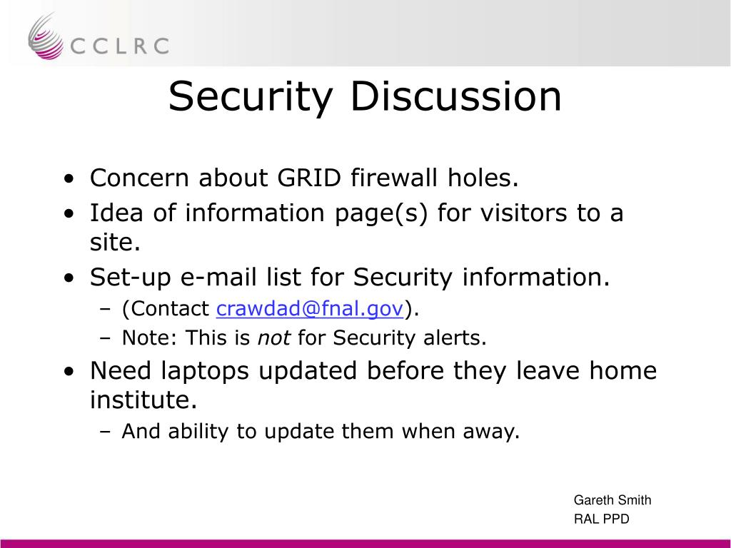 Security Discussion