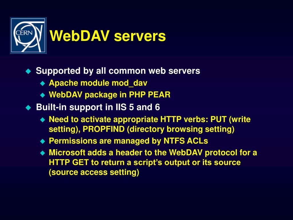 WebDAV servers