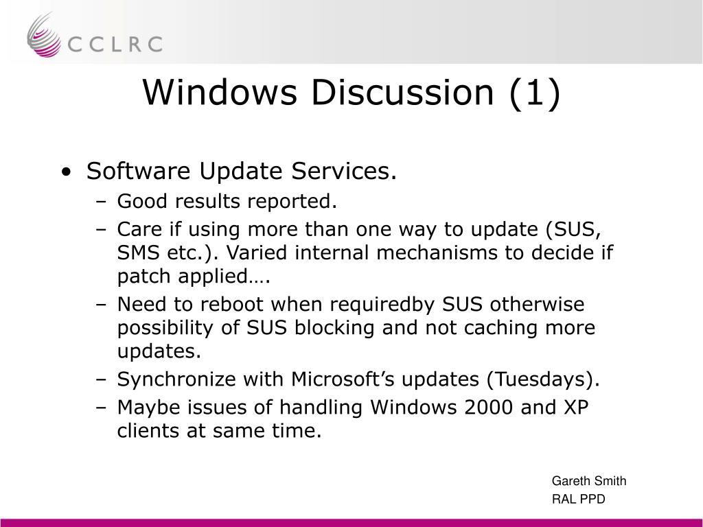 Windows Discussion (1)