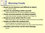worrying trends