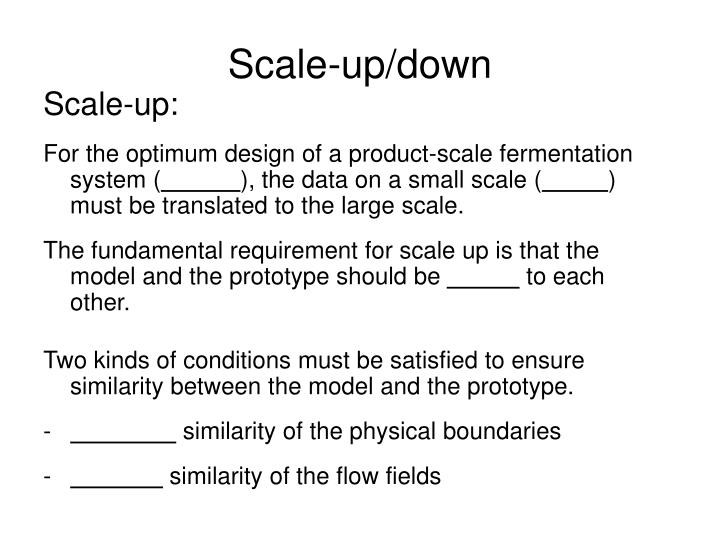 scale up down n.