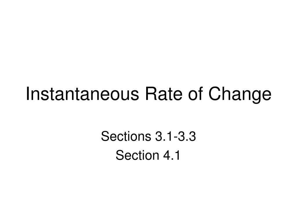 instantaneous rate of change l.
