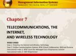 telecommunications the internet and wireless technology