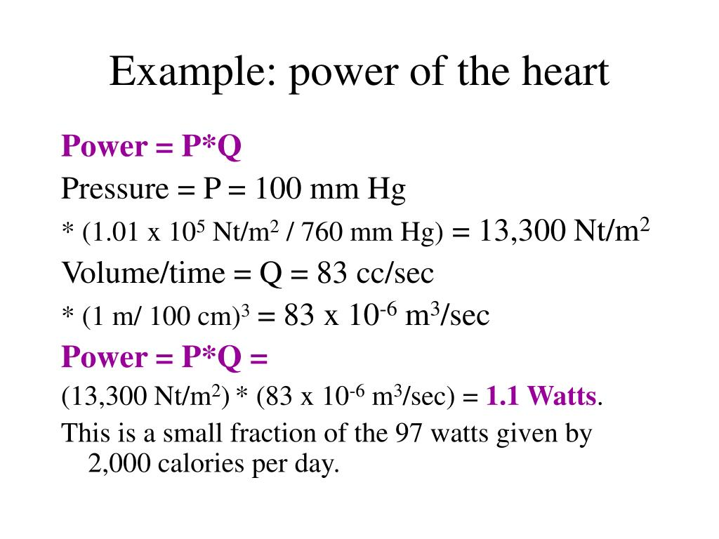 Example: power of the heart