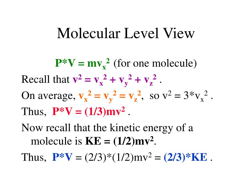 Molecular Level View