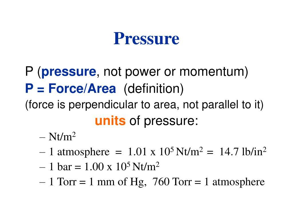 pressure l.