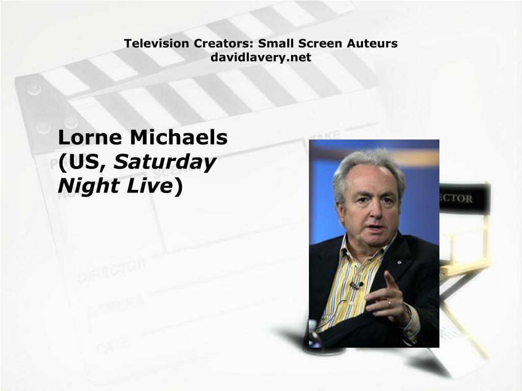 Television Creators: Small Screen Auteurs