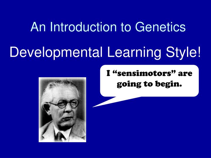an introduction to genetics n.