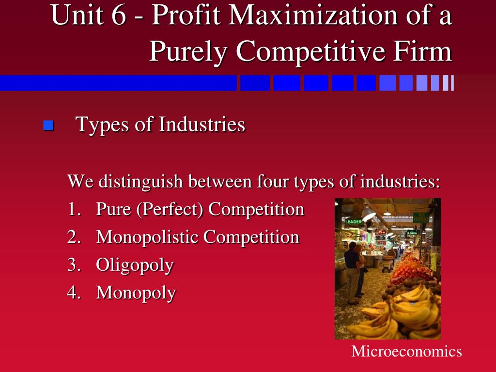 unit 6 profit maximization of a purely competitive firm l.