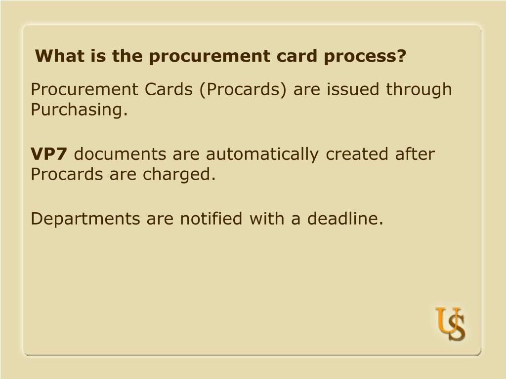 What is the procurement card process?