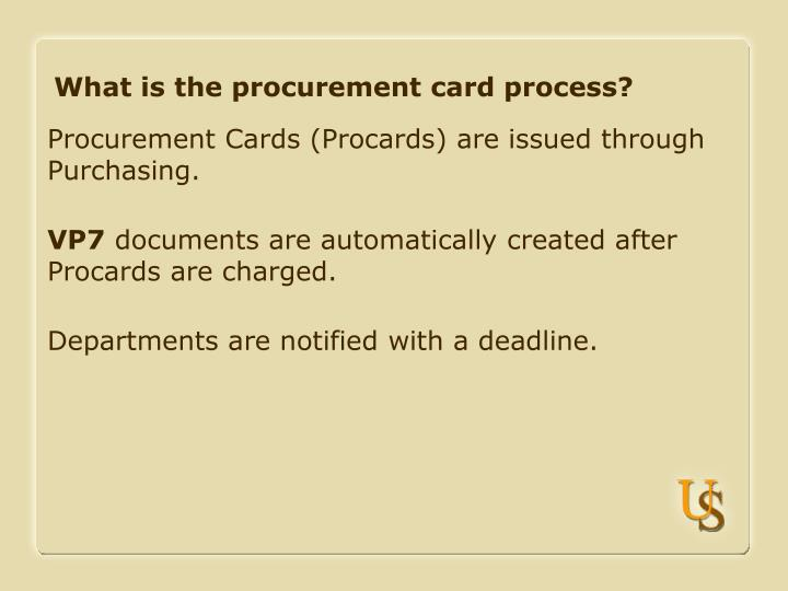 What is the procurement card process
