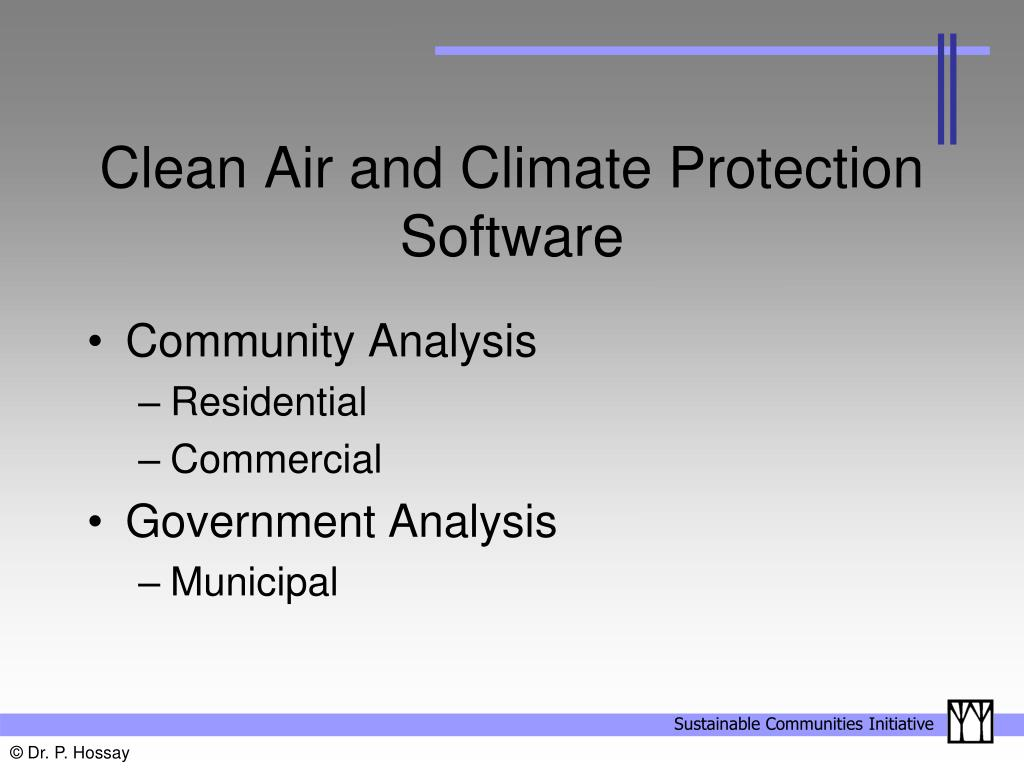 Clean Air and Climate Protection Software