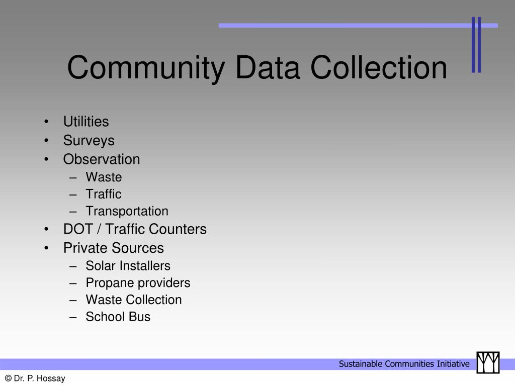 Community Data Collection