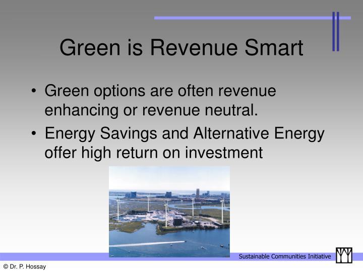 Green is revenue smart
