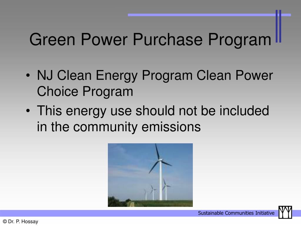 Green Power Purchase Program